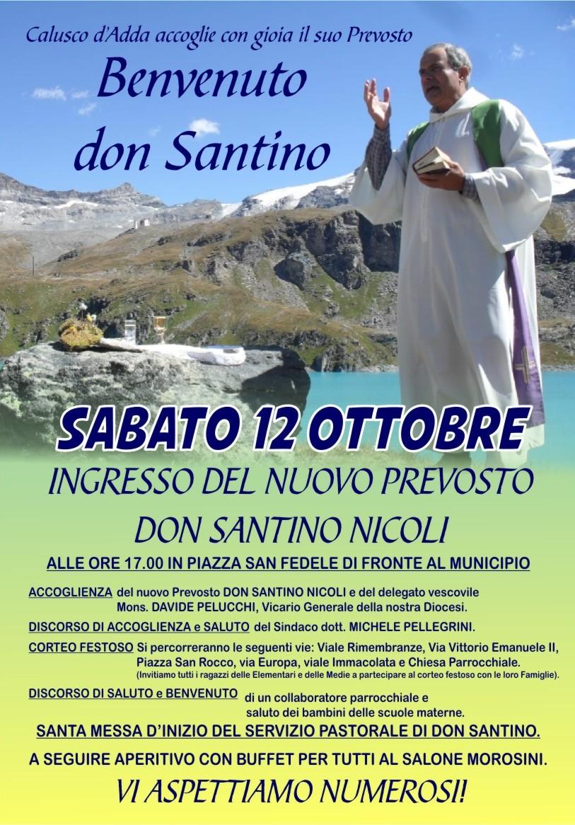 Benvenuto don Santino